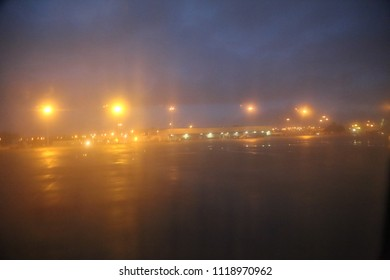 Landing strip night images stock photos vectors shutterstock landing strip and lights at the airport of porto portugal at night top mozeypictures Image collections