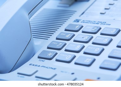 landline phone close up