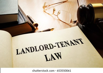 Landlord-tenant law on an office table.