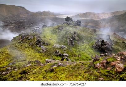 Landmannalaugar wild landscape, Iceland
