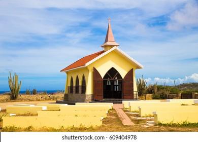 Landmark Alto Vista Chapel along the Aruba Coast in Noord