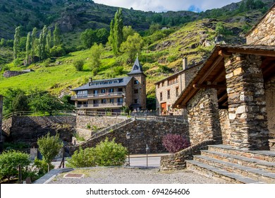 Landmark of Canillo village in Andorra.