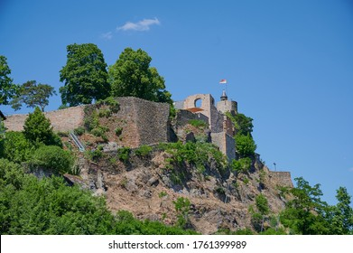 landmark of Saarburg, a ruin in Saarland, Germany