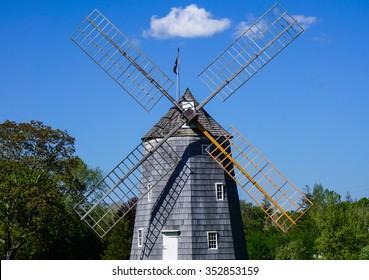 Landmark windmill at Water Mill, Long Island, NY