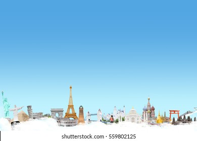 landmarks around the world concept travel