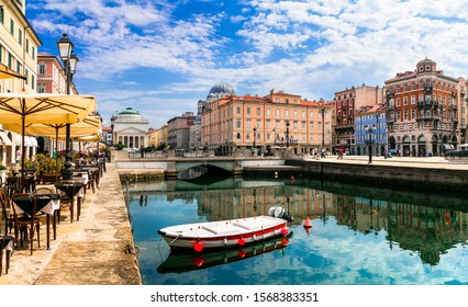 Landmarks and beautiful places (cities) of northern Italy - elegant Trieste town