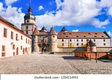 Landmarks of Germany - medieval fortress Marienberg . Symbol of Wurzburg town