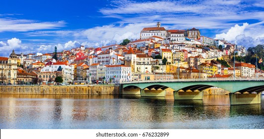 landmarks of Portugal - beautiful Coimbra town