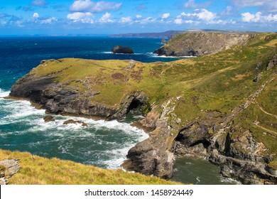 Land's End, Cornwall, England, UK.  Headland scenic landscape