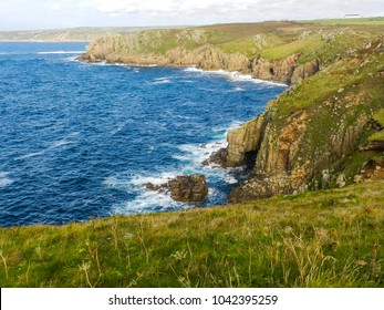 Lands End - looking north. Cornwall. UK