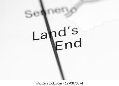 Lands End England Map.Land S End Images Stock Photos Vectors Shutterstock