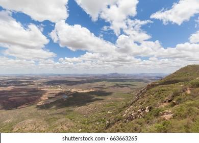 "Lands of Paraiba State from top of ""Pedra do Tendo"", Teixeira, Paraiba, Brazil"
