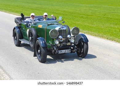 LANDSBERG, GERMANY - JULY 12: Oldtimer rallye for at least 80 years old antique cars with Lagonda open Tourer T5, built at year 1930, photo taken on July 12, 2013 in Landsberg, Germany
