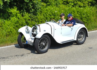 LANDSBERG, GERMANY - JULY 13: Oldtimer rallye for at least 80 years old antique cars with Aero 10, built at year 1929, photo taken on July 13, 2013 in Landsberg, Germany