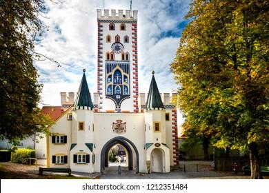 Landsberg am Lech - Bayertor, historic town gate. Bavaria, Germany.