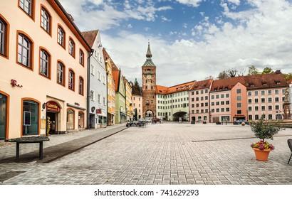 Landsberg am lech, Germany - May 07, 2017: Old medieval town Landsberg am lech -  Bavaria, Germany