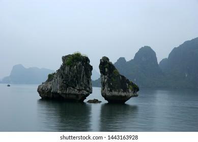 The landscae of Ha Long Bay
