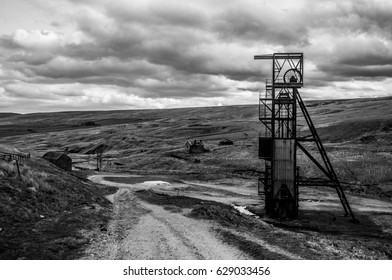 Landscape of an abandoned mine