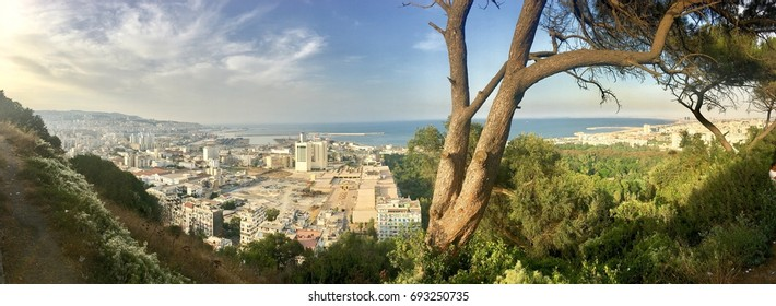 Landscape of Algiers city from Maqam Echahid monument panorama.