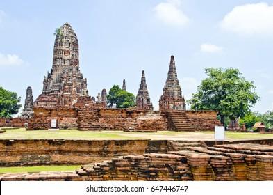 Landscape of ancient temple. Thailand.