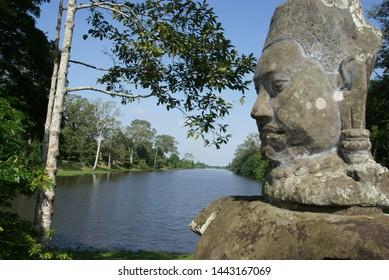 The landscape of Angkor Thom