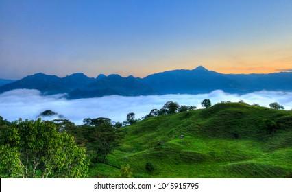 Landscape of Antioquian southwest, Antioquia, Colombia