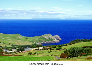 Landscape of Antrim coast. Northern Ireland