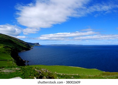 Landscape of Antrim coast, northern Ireland, Torr Head