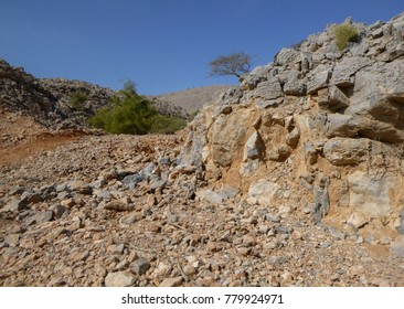 Landscape of Arabian Peninsula. United Arab Emirates. Hajar mountains