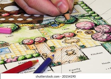 Landschaftsarchitektur-Design