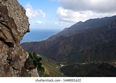landscape of the area of Taganana  in the North of Tenerife, Canary Islands, Spain,
