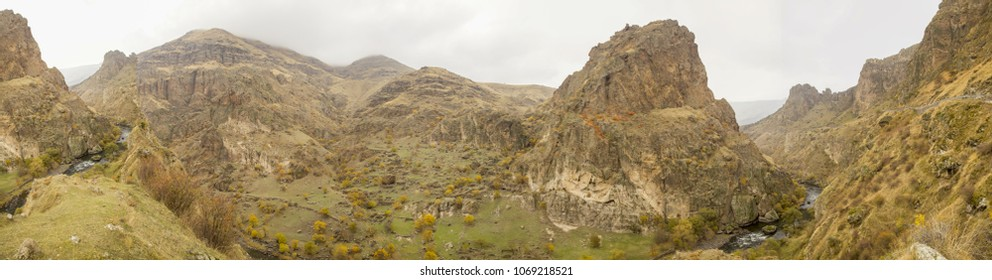 Landscape around Akhaltsikhe in the Caucasian Republic of Georgia.