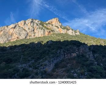 Landscape around Els Hostalets de Tost in Catalonia, Spain