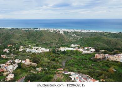 landscape around Frigiliana, South of Spain