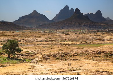 Landscape around historical city Aksum  (Axum) - Ethiopia
