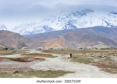 Landscape Around Karakul Lake, Kasgar, Xinjiang, China
