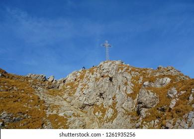 Landscape around landmark of Tatry - Giewont during autumn, Zakopane, Tatry moutanins