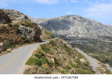 Landscape around the mountain village Asi Gonia, Crete, Greece