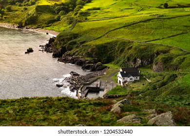 Landscape around Torr head, A Northern Ireland's attraction located on country of antrim near Ballycastle.