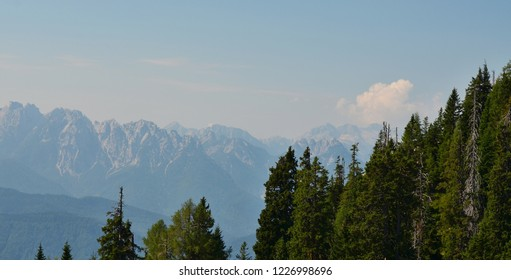 landscape around the village of Rosegg in Austria in the Land of Carinthia in the district of Villach, Austria