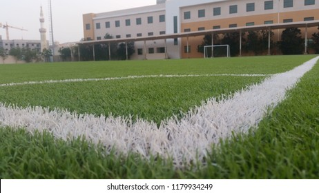 Landscape - AstroTurf soccer field - View from the corner
