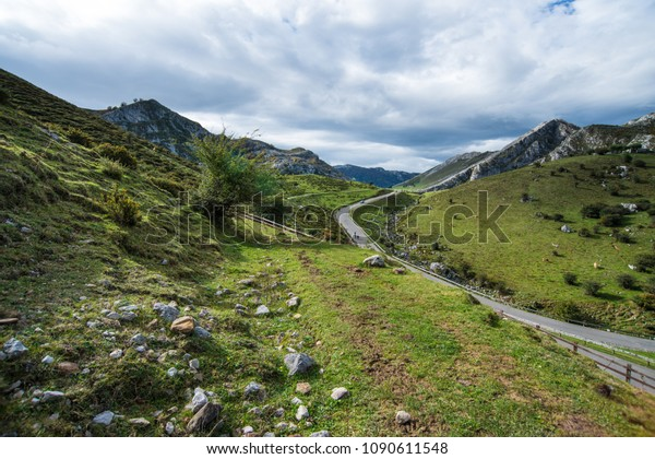 landscape in asturias spain