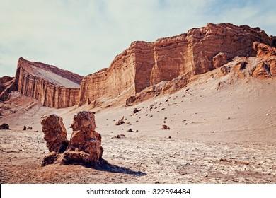 Valle��De��La��Luna landscape. Atacama desert, Chile.