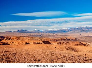 Landscape of the Atacama Desert nearby San Pedro de Atacama, Antofagasta Region, Chile