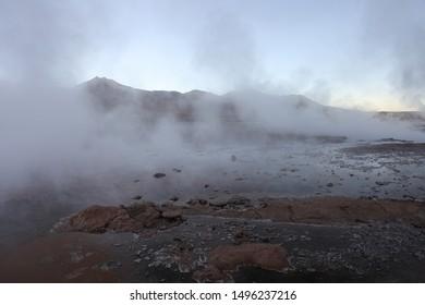 Landscape in Atacama desert in northern Chile