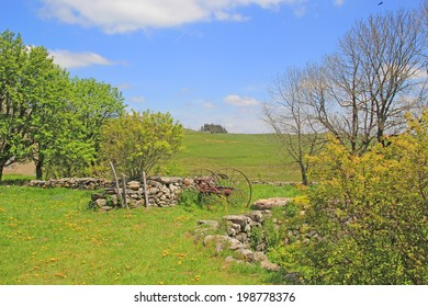 Landscape of Aubrac in Aveyron, France.
