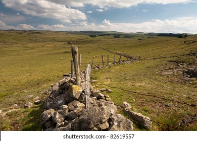 Landscape of Aubrac in the South-West of France