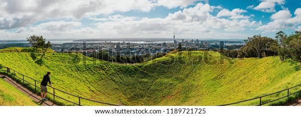 Landscape Auckland City Summit Mount Eden Stock Photo Edit Now 1189721725