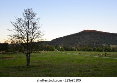 Landscape of Australian farm in Queensland Australia.
