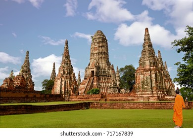 Landscape Ayutthaya Historical Park in Ayutthaya. The famous temple of the equivalent human Thailand.